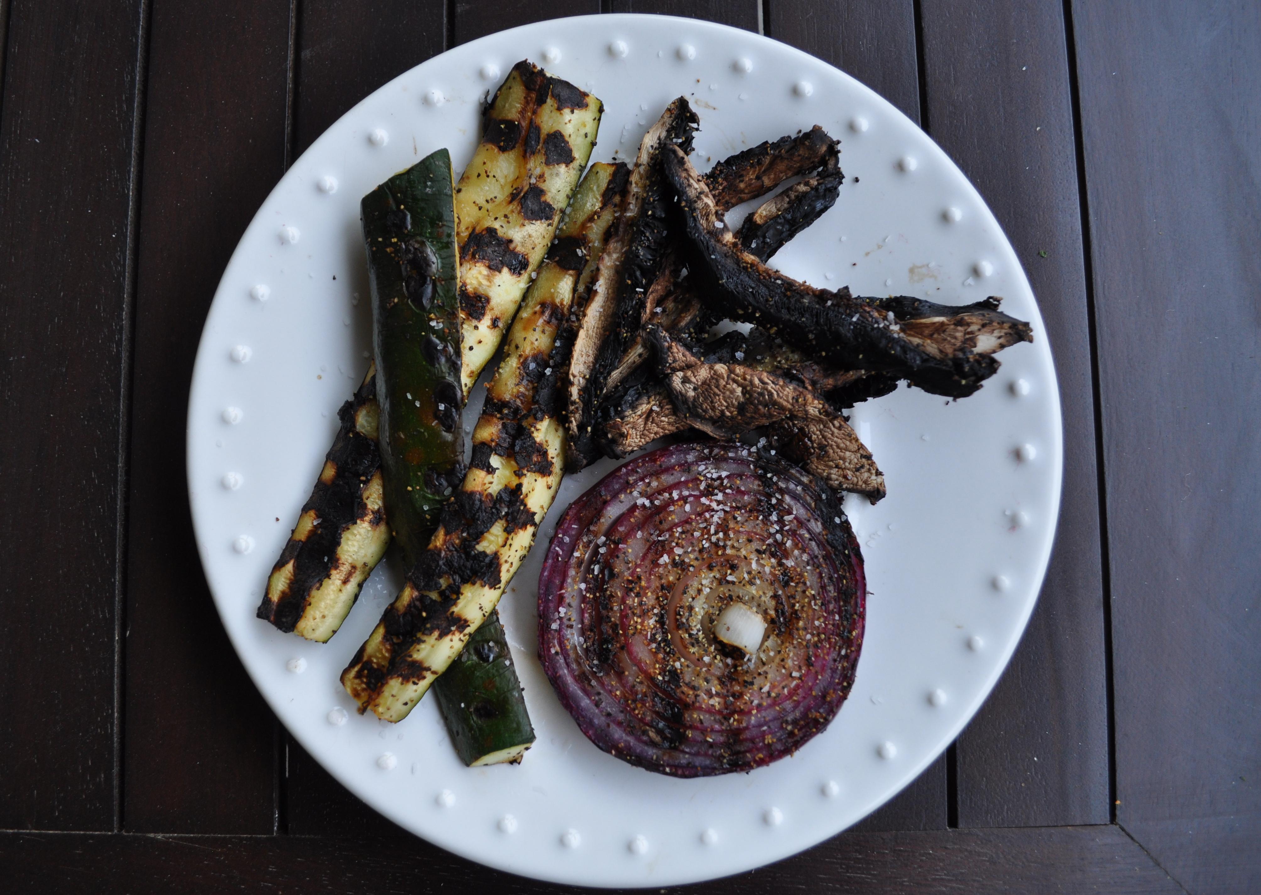 grilled veggie dinner