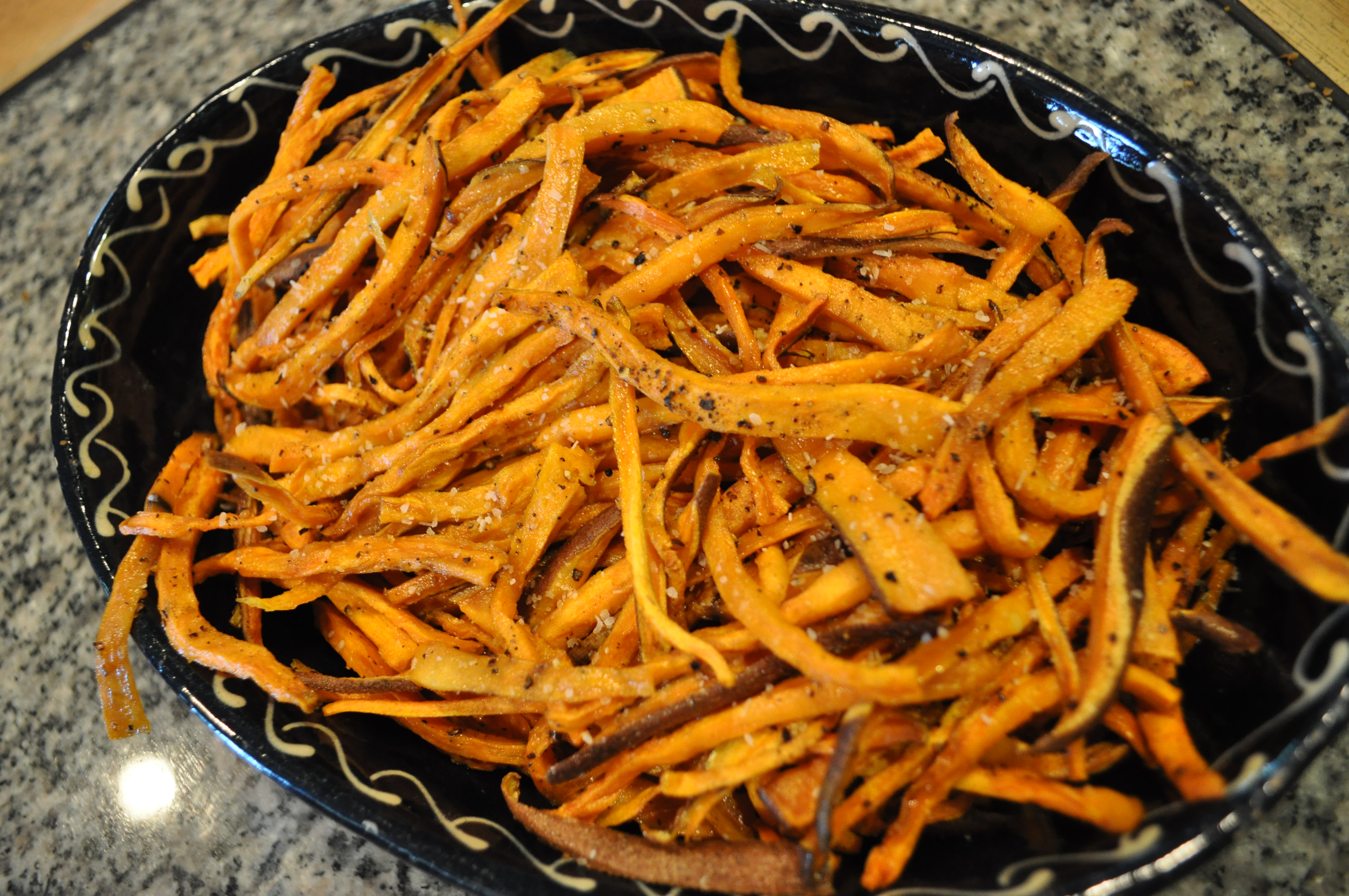 Independence Day baked sweet potato fries