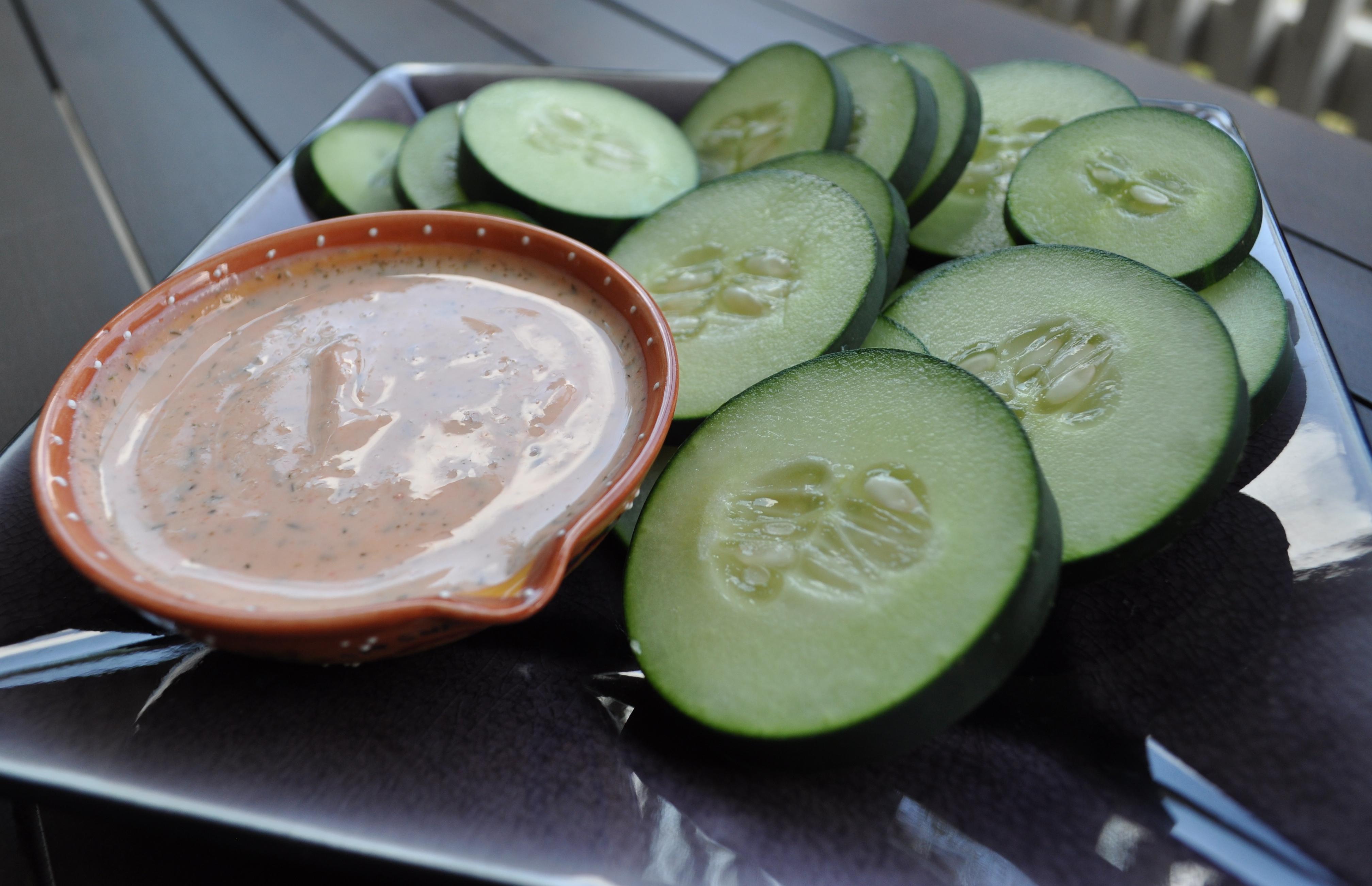 greek cucumber snack