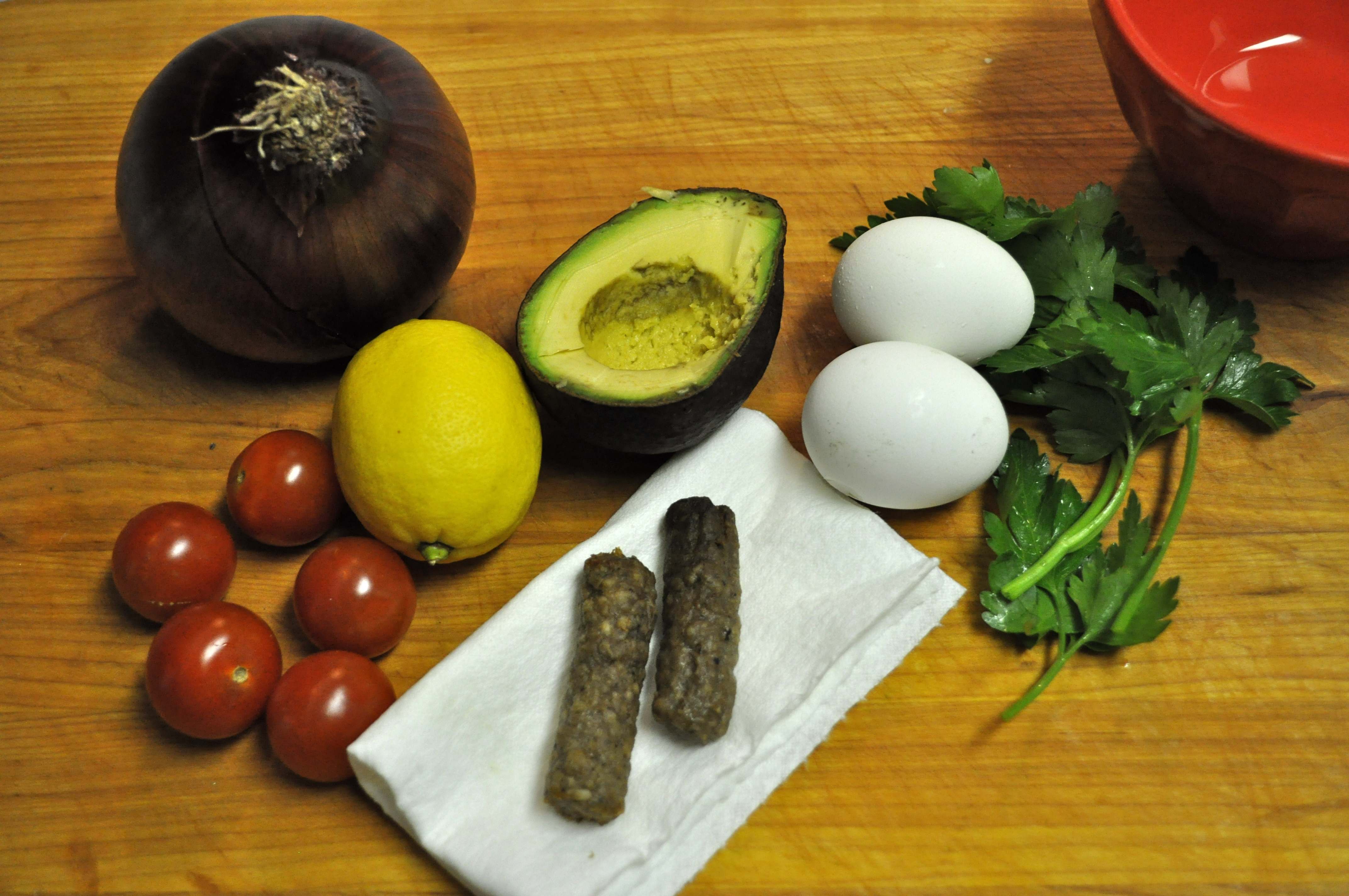 ingredients for The Breakfast Salad