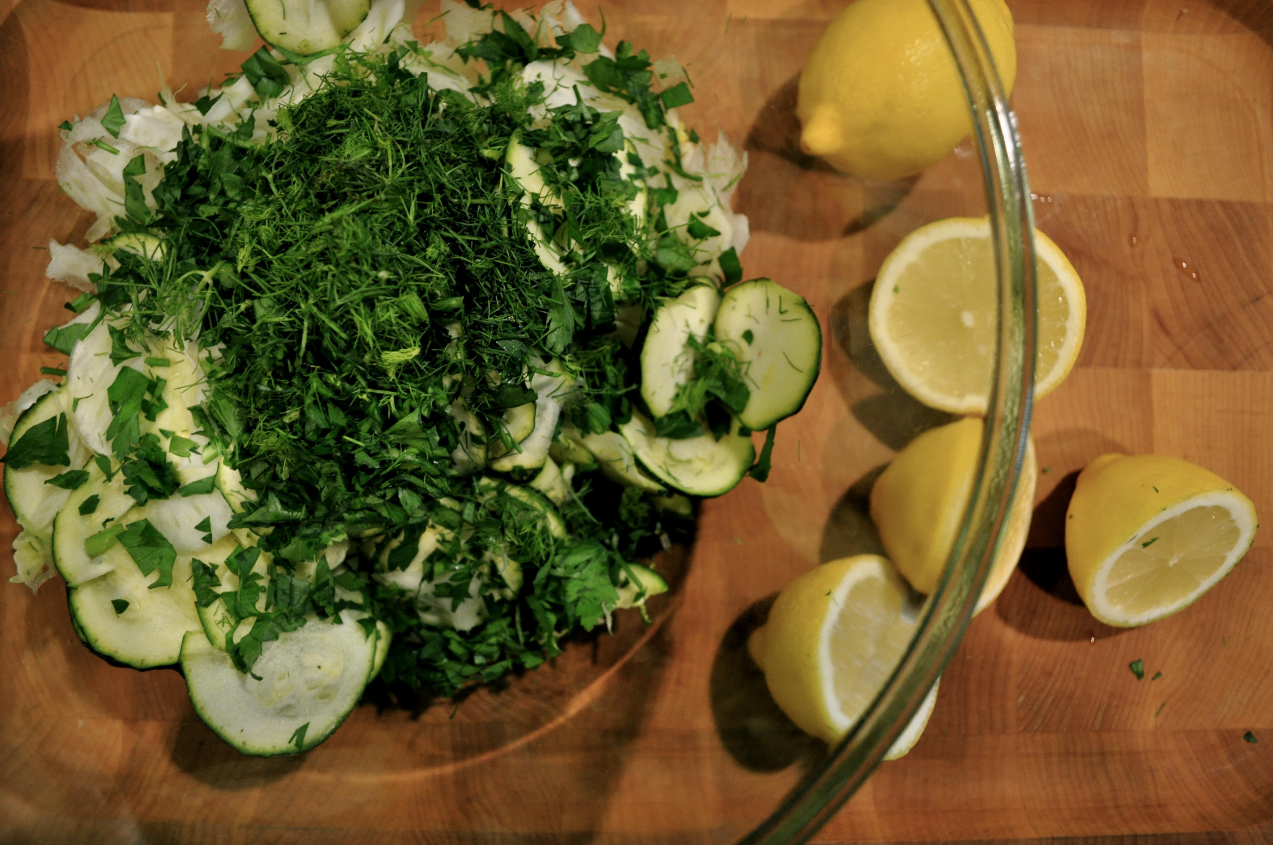 raw fennel zucchini salad