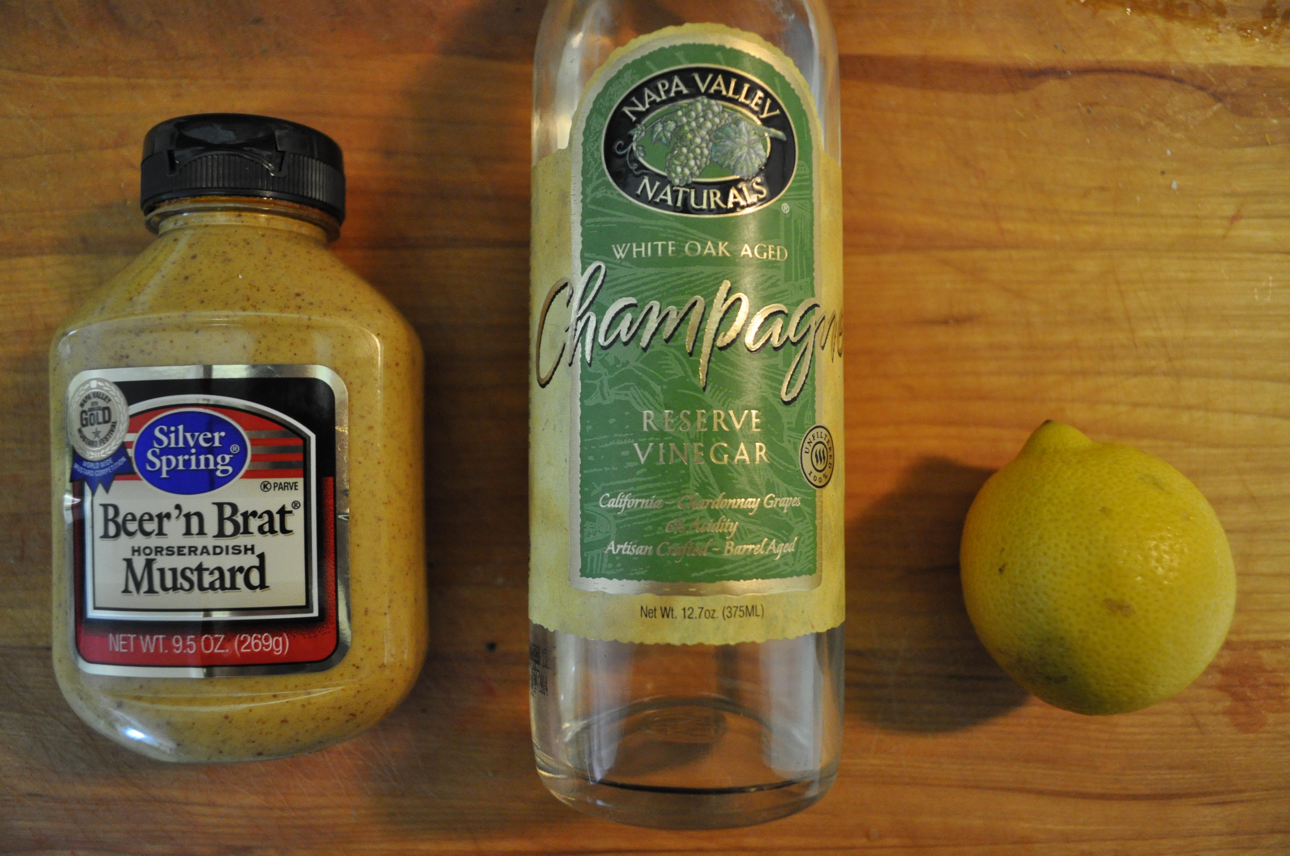salmon mustard salad ingredients
