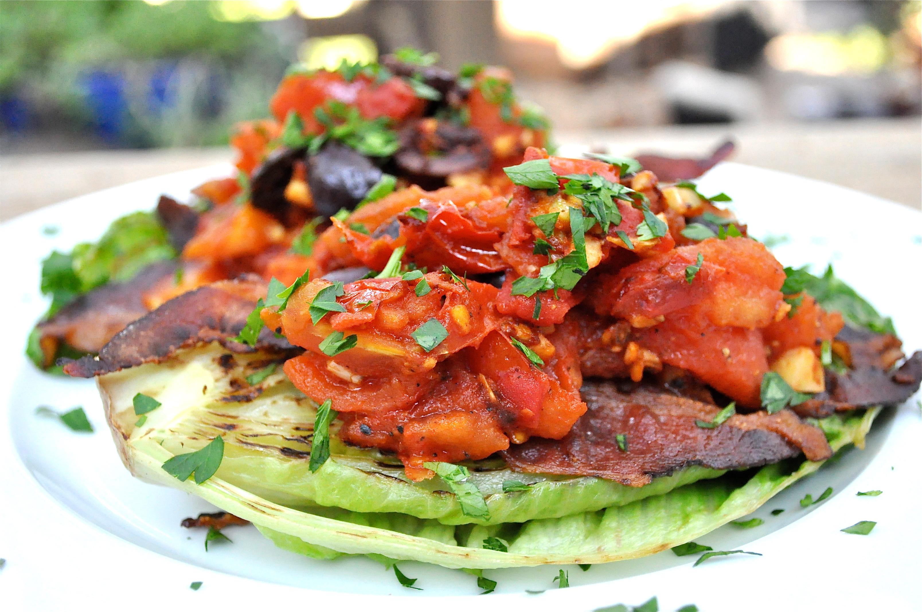 Grilled Romaine BLT Salad Recipe — Dishmaps