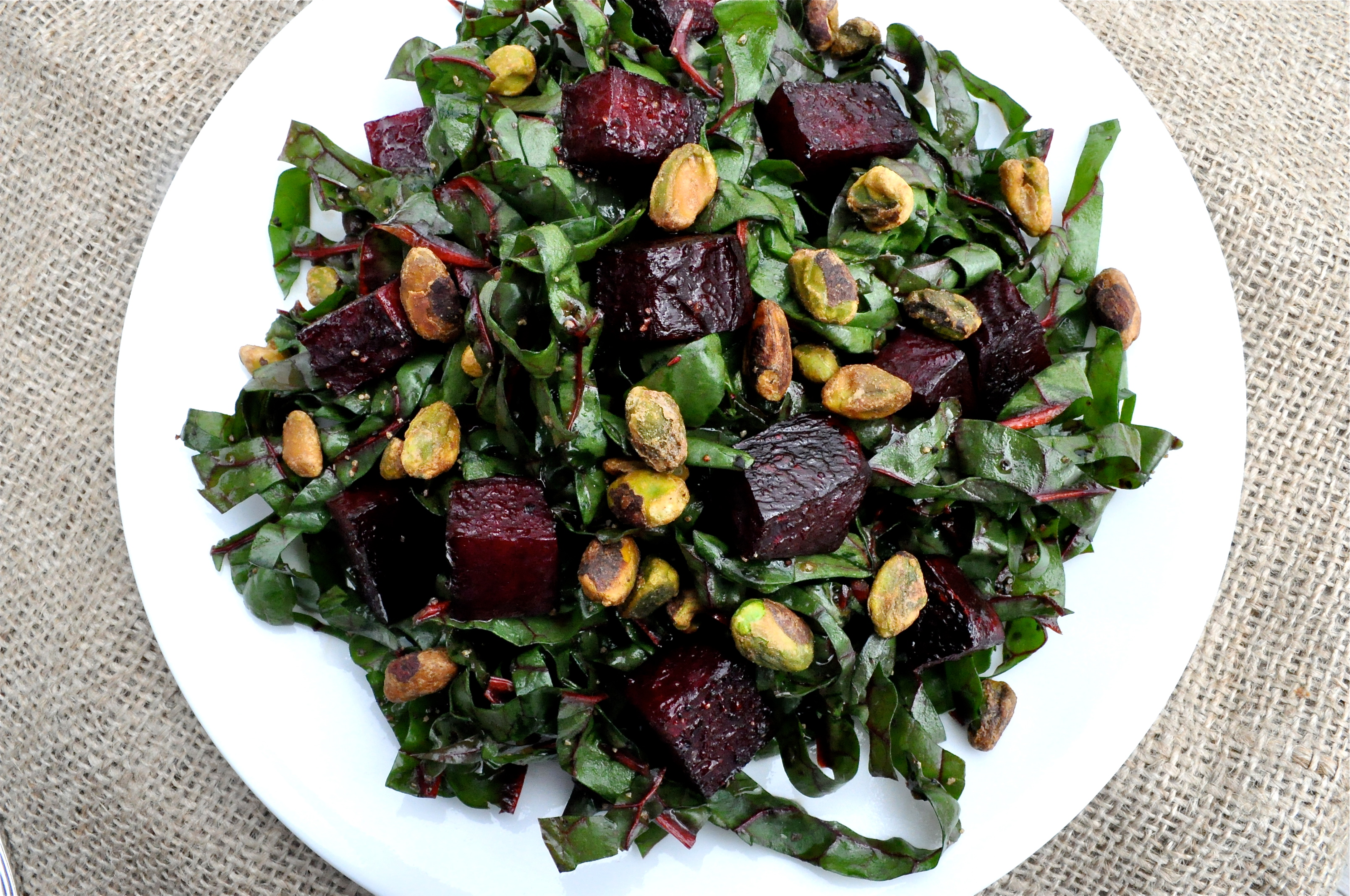 Shredded Swiss Chard And Roasted Beet Salad Fed Fit
