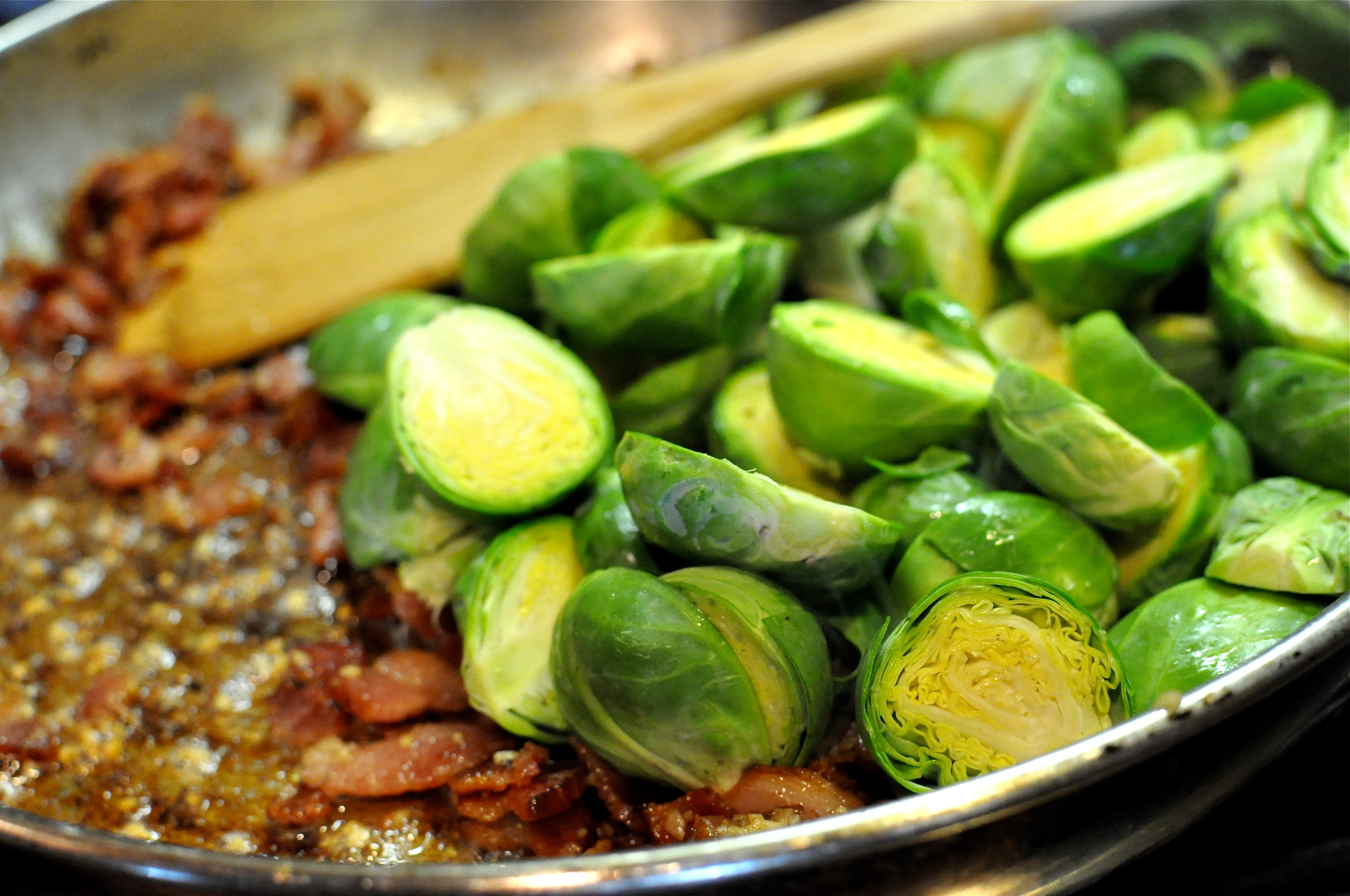 Roasted Bacon Balsamic Brussels Sprouts Fed Amp Fit