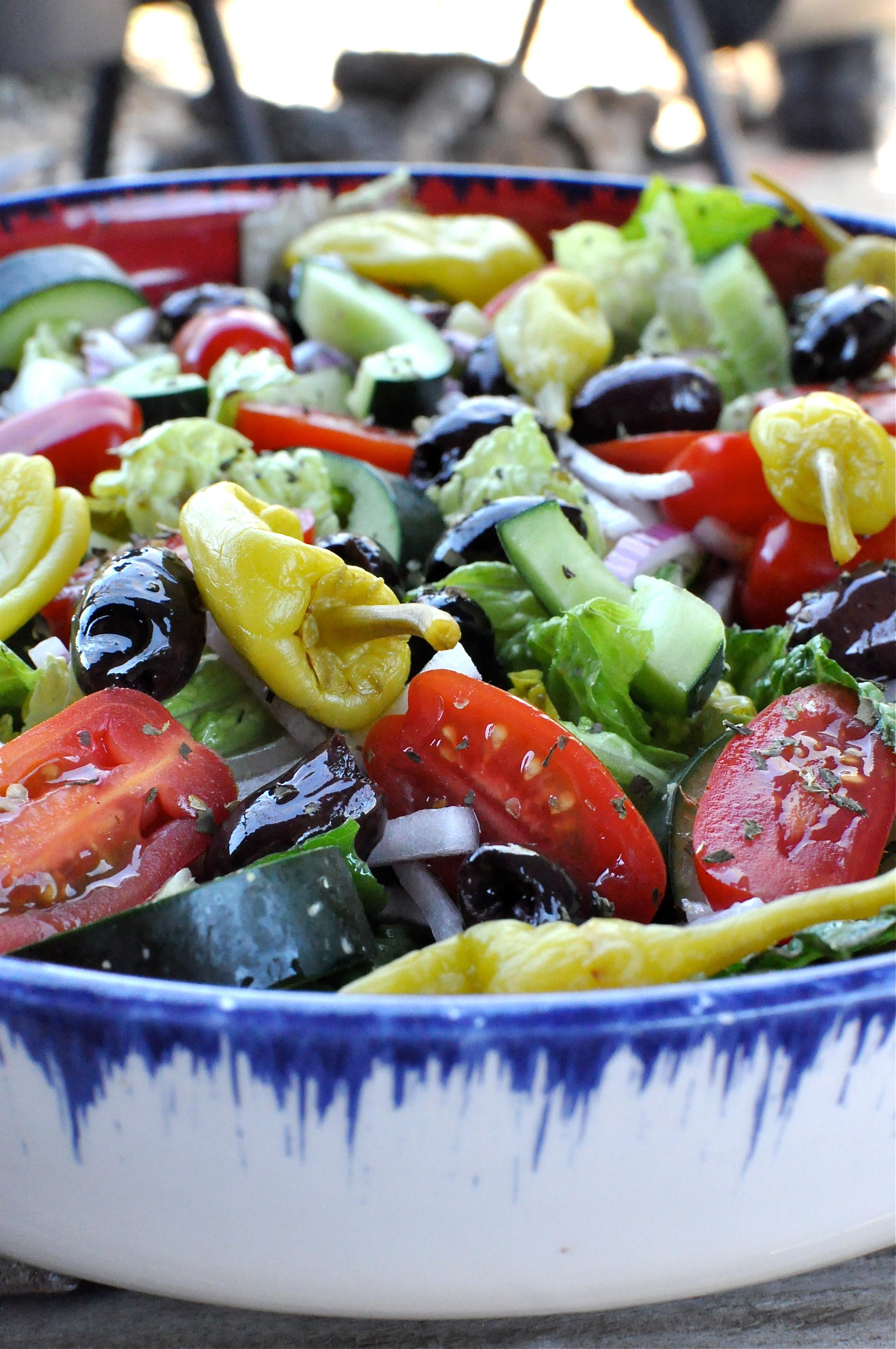 Paleo Greek Salad - Fed & Fit