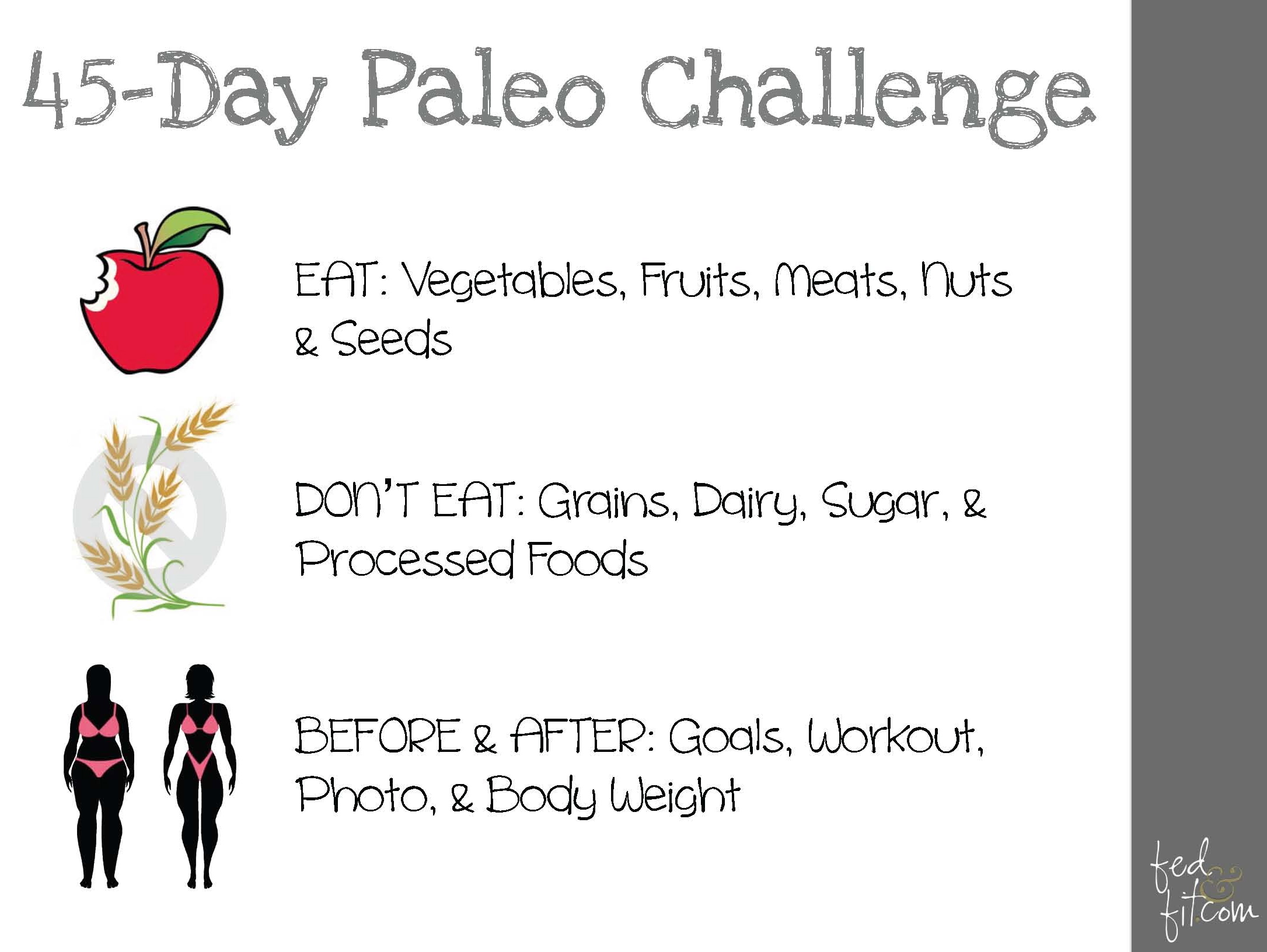 45-Day Paleo Challenge - Fed & Fit
