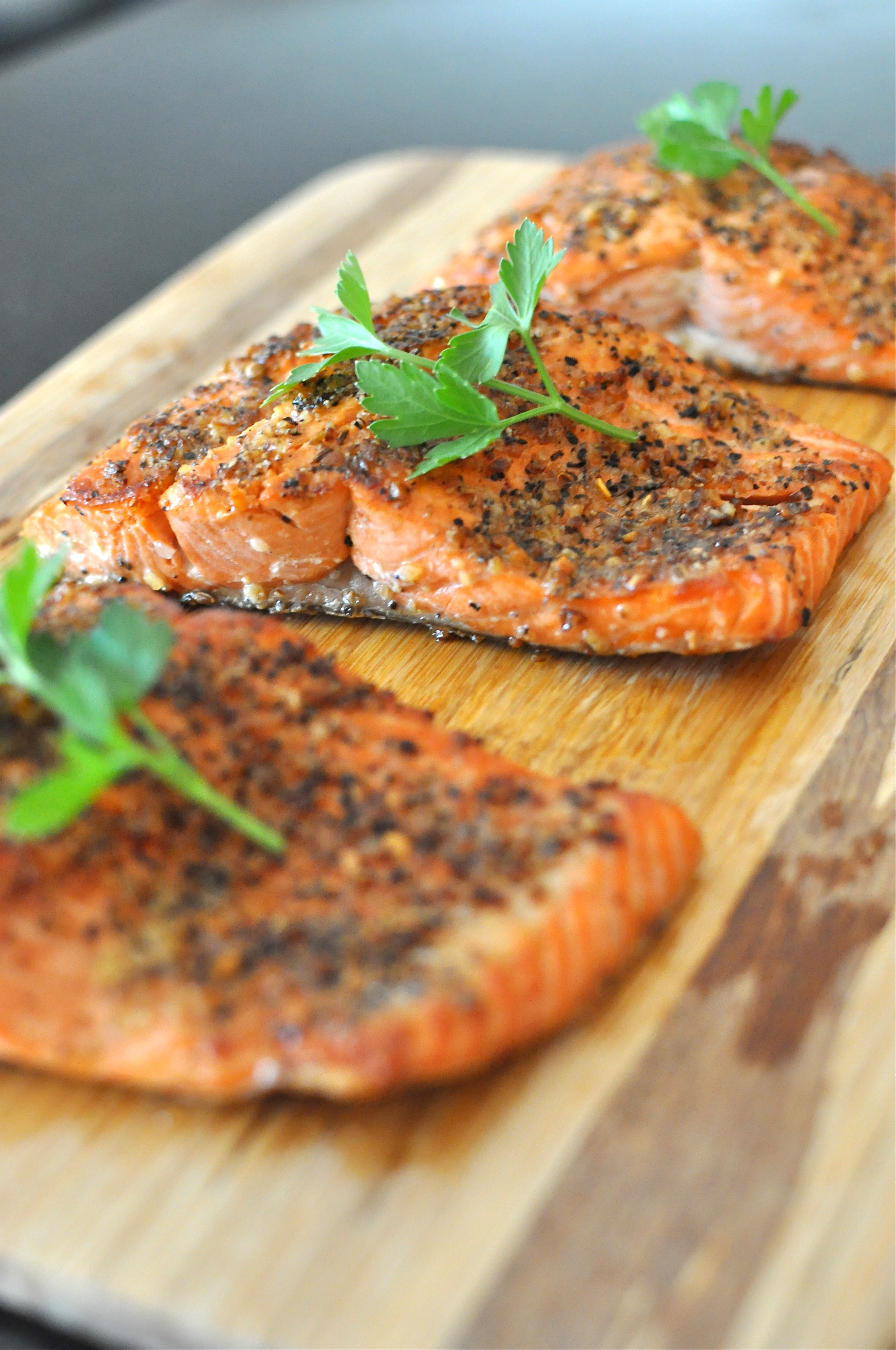 Pan Seared Peppered Salmon Fed Amp Fit