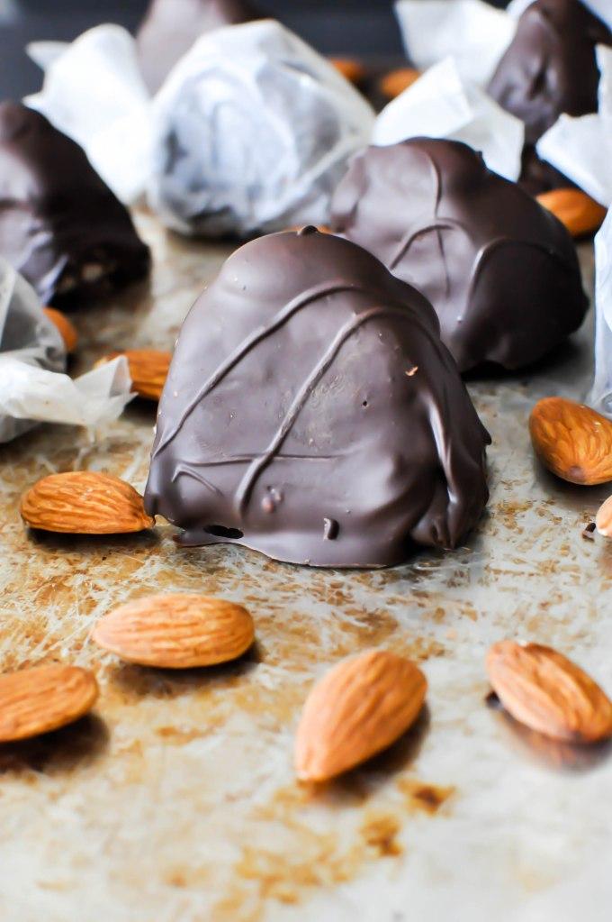 homemade paleo almond joys