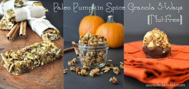 Paleo Pumpkin Spice Granola | Fed and Fit