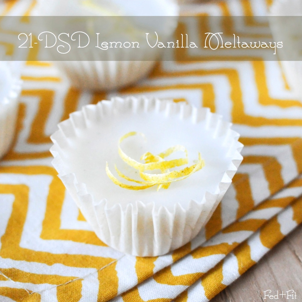 21-DSD Lemon Vanilla Meltaways| Fed and Fit-SM