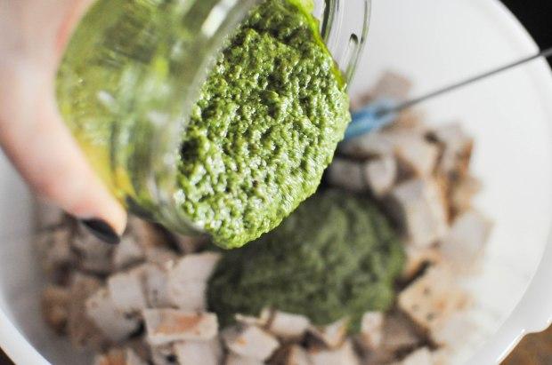 Paleo Chicken Pesto Salad | Fed and Fit-17
