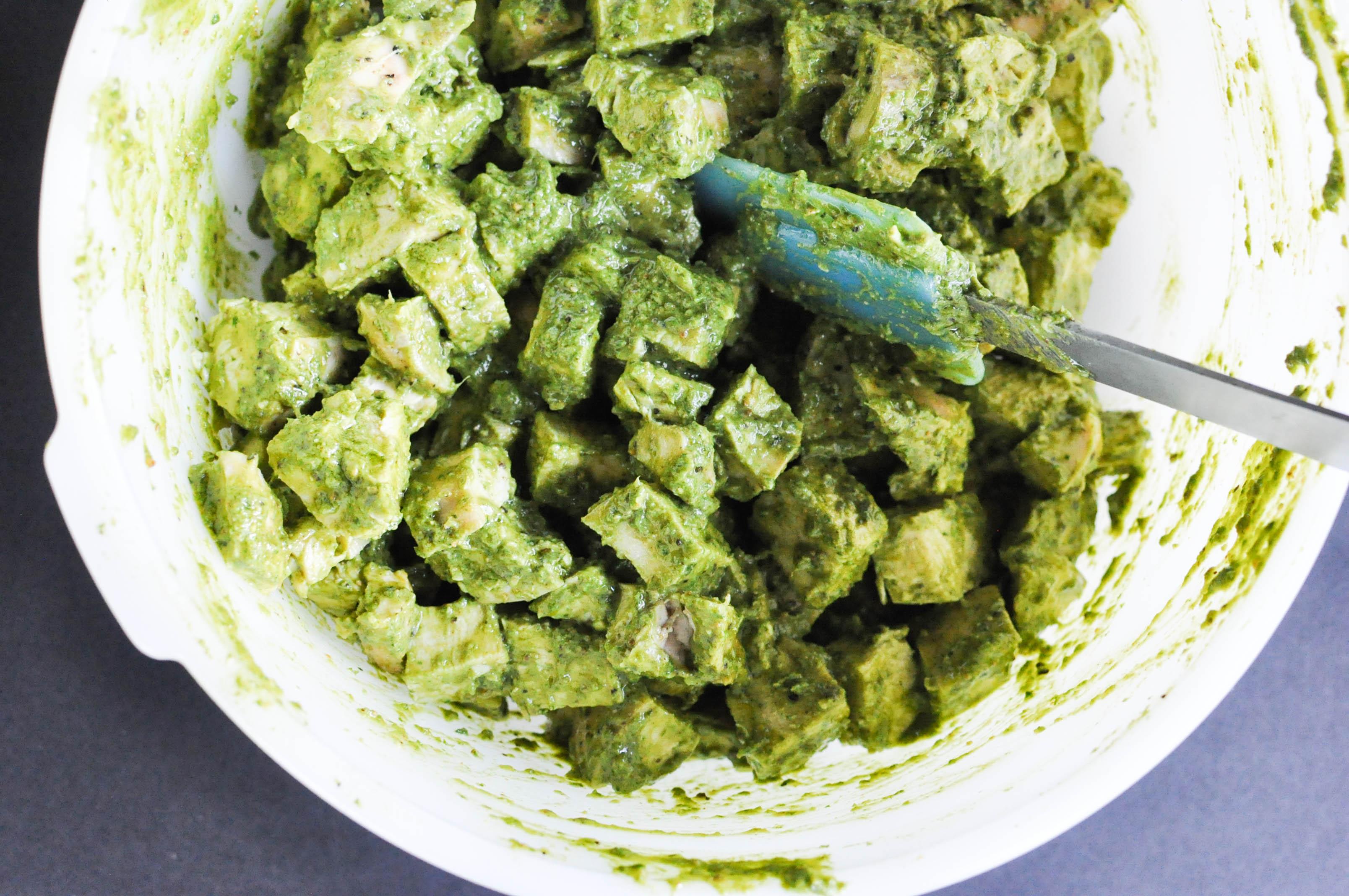 Paleo Chicken Pesto Salad - Fed