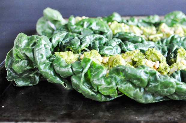 Paleo Chicken Pesto Salad | Fed and Fit-3