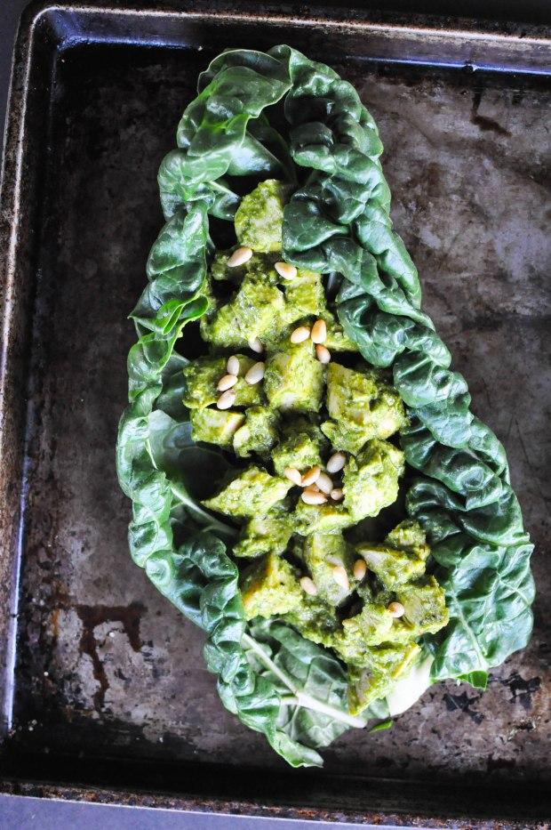 Paleo Chicken Pesto Salad | Fed and Fit-4