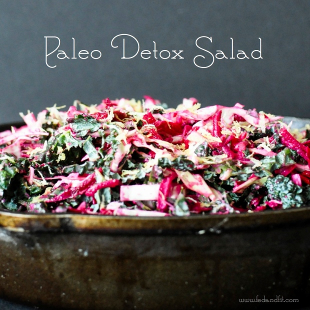 Paleo Detox Salad | Fed and Fit