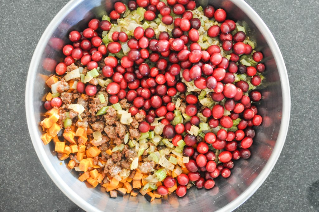 Paleo Sweet Potato Cranberry Stuffing   Fed+Fit-64