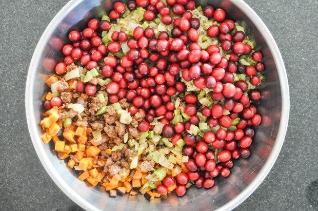 Paleo Sweet Potato Cranberry Stuffing | Fed+Fit-64