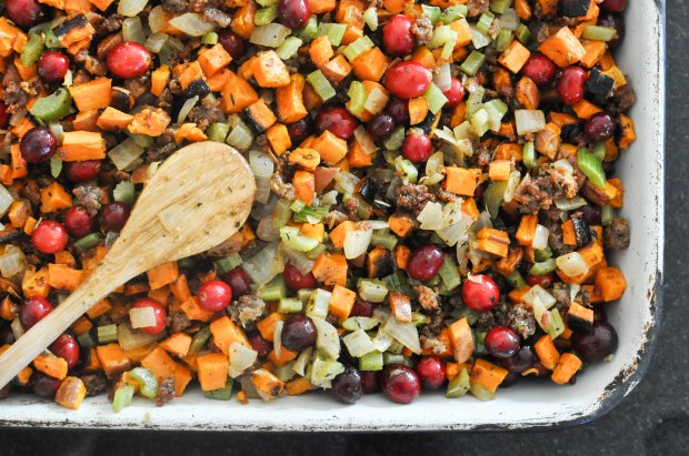 Paleo Sweet Potato Cranberry Stuffing | Fed+Fit-68