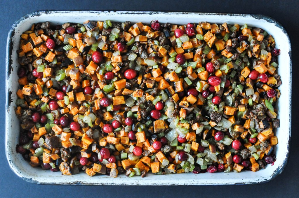 Paleo Sweet Potato Cranberry Stuffing | Fed+Fit-70