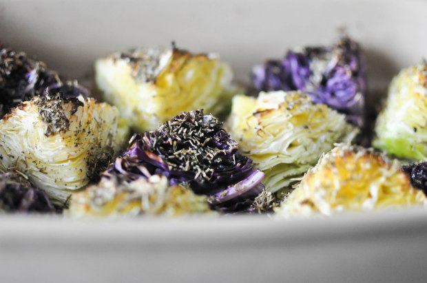 Gather's Roasted Green and Purple Cabbage | Fed+Fit-21