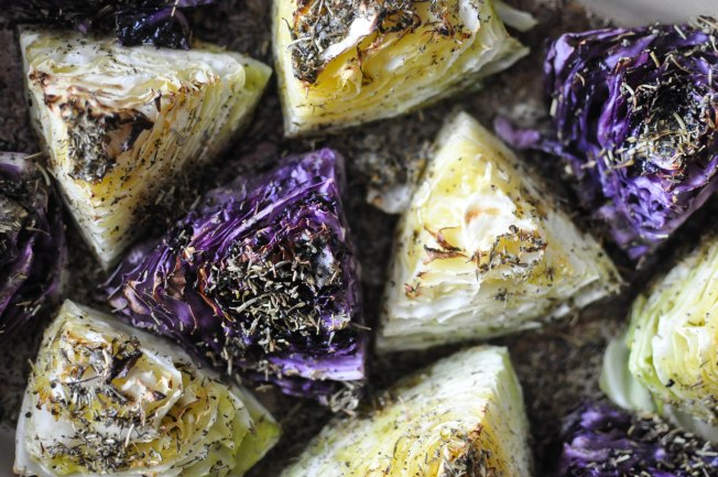 Gather's Roasted Green and Purple Cabbage | Fed+Fit-23