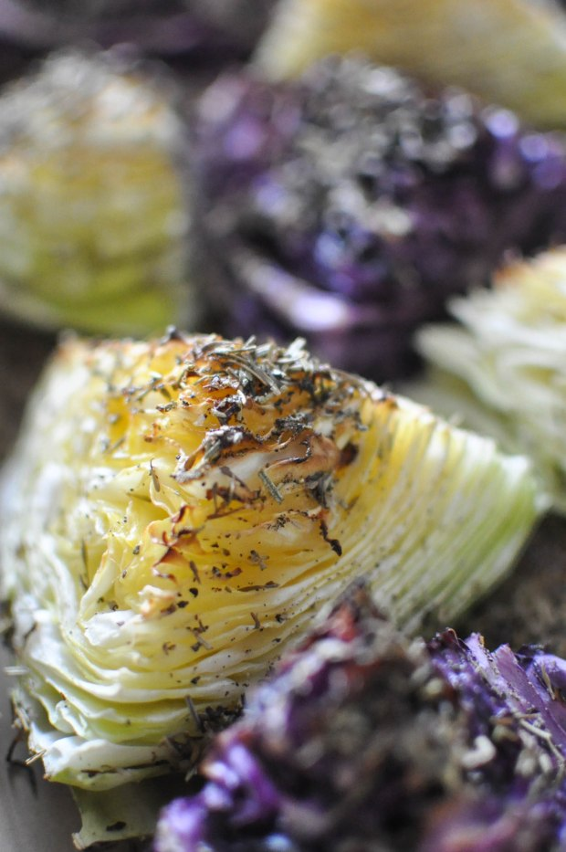 Gather's Roasted Green and Purple Cabbage   Fed+Fit-4