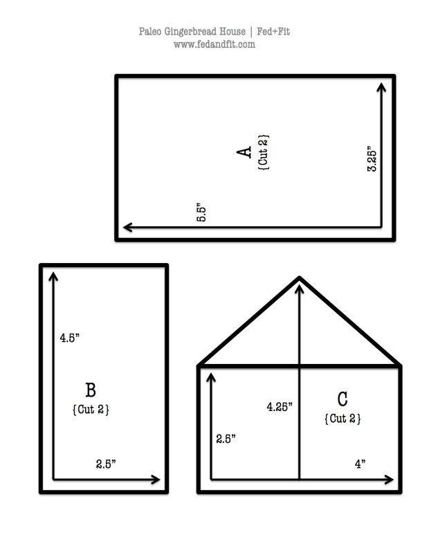 Paleo Gingerbread House Blueprint | Fed+Fit