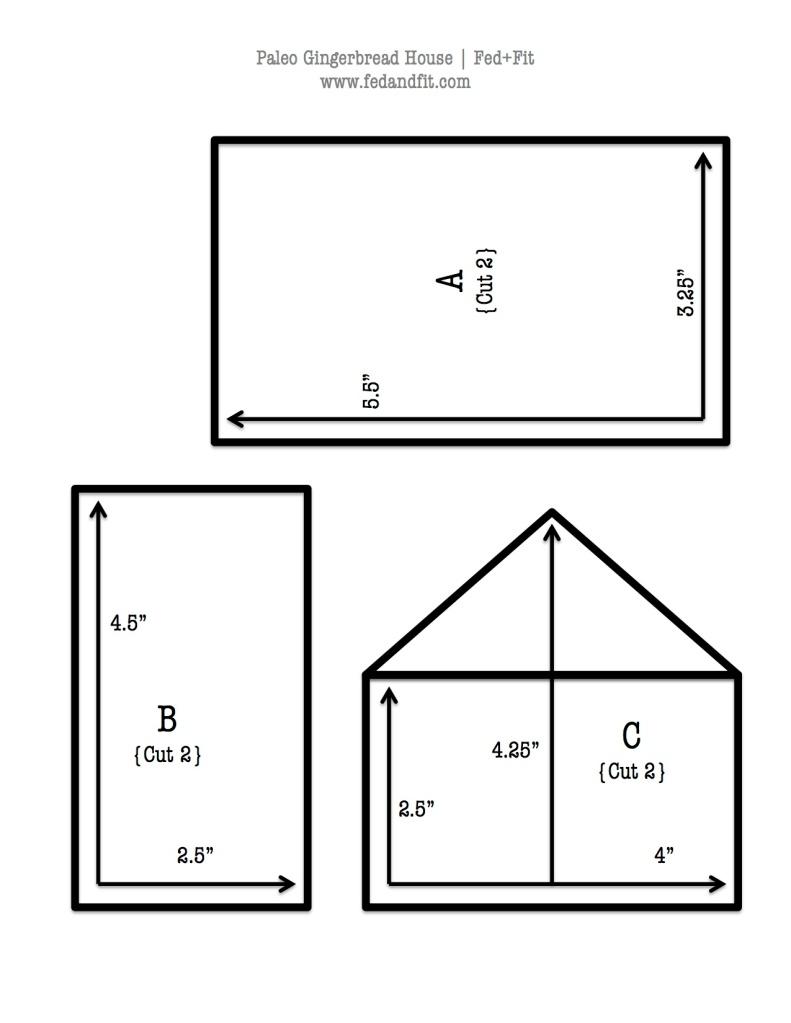Paleo Gingerbread House Blueprint   Fed+Fit