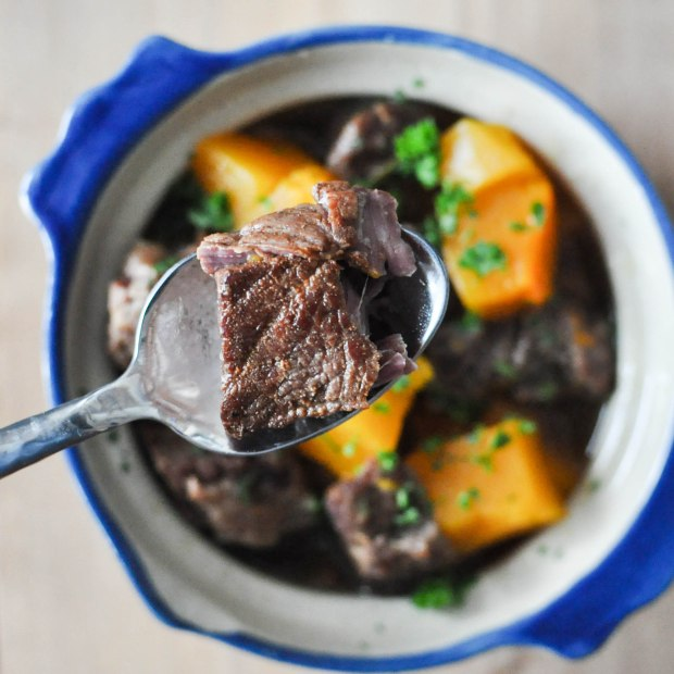 Paleo Winter Squash and Beef Stew | Fed+Fit-4